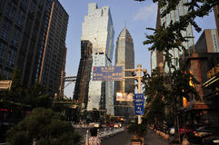 Ruas da cidade de Shaoxing China foto de stock