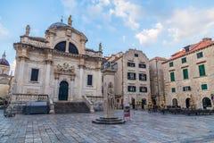 Ruas da cidade velha de Dubrovnik foto de stock royalty free