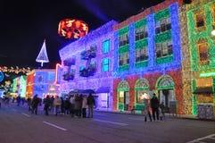 Ruas da mostra das luzes de América em Disney Imagem de Stock Royalty Free