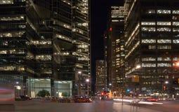 Ruas da noite Fotografia de Stock