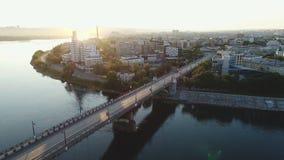 Ruas da opinião superior dos panoramas e distritos pitorescos bonitos, cidade video estoque