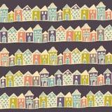 Ruas das casas de Europa dos desenhos animados Fotos de Stock Royalty Free