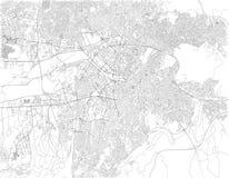 Ruas de Ancara, mapa da cidade, Turquia Fotografia de Stock Royalty Free