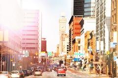 Ruas de Baltimore e torre de Emerson Bromo Seltzer foto de stock