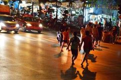 Ruas de Banguecoque. Fotos de Stock Royalty Free