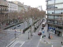 Ruas de Barcelona Imagem de Stock Royalty Free