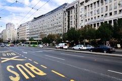 Ruas de Belgrado Fotografia de Stock