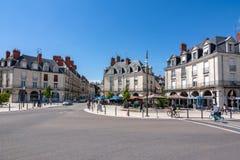 Ruas de Blois - cidade pequena em Loire Valley, França fotos de stock