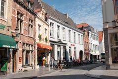 Ruas de Bruges Fotografia de Stock