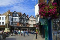 Ruas de Canterbury, Reino Unido Imagem de Stock