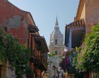 Ruas de Cartagena, Colômbia Fotos de Stock