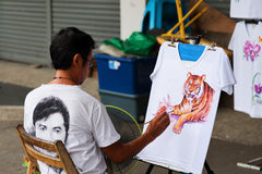 Ruas de Chiang Mai Fotos de Stock Royalty Free