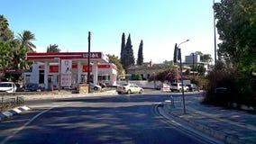 Ruas de Chipre em Nicosia, e memórias cipriotas da vida de rua da cidade Fotografia de Stock Royalty Free