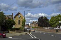 Ruas de Coatbridge, Lanarkshire norte em Escócia no Reino Unido, 08 08 2015 Fotografia de Stock