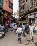 Ruas de Deli durante o dia Imagens de Stock Royalty Free