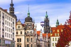 Ruas de Dresden, Alemanha fotografia de stock