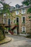 Ruas de Edimburgo, Ramsay Garden foto de stock royalty free