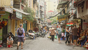 Ruas de Hanoi imagens de stock