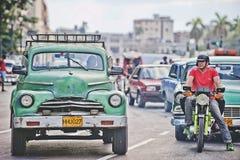 Ruas de Havanna Foto de Stock Royalty Free