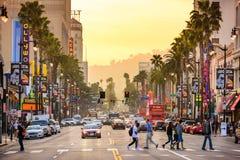 Ruas de Hollywood Califórnia imagens de stock