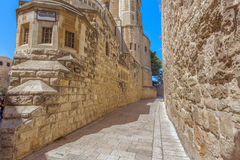 Ruas de Jerusalem Imagens de Stock Royalty Free