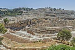 Ruas de Jerusalem Fotos de Stock Royalty Free