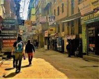 Ruas de Kathmandu, Nepal Fotos de Stock Royalty Free