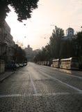 Ruas de Kiev fotografia de stock