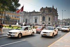 Ruas de Lima, Peru fotografia de stock