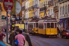 Ruas de Lisboa, Portugal 3 fotos de stock