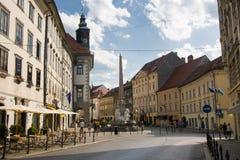 Ruas de Ljubljana Imagens de Stock