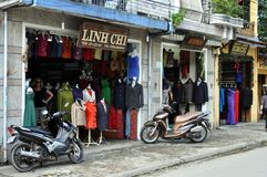 Ruas de lojas de Vietname - de Taylor Imagens de Stock