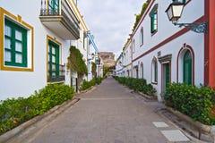 Ruas de Mogan Gran Canaria fotografia de stock royalty free