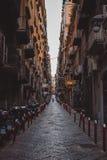 Ruas de Nápoles imagem de stock
