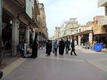 Ruas de Najaf imagem de stock