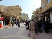 Ruas de Najaf fotografia de stock royalty free