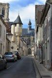 Ruas de Nevers - NEVERS - França fotografia de stock