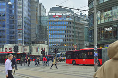 Ruas de Oslo Fotos de Stock Royalty Free