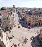 Ruas de Oxford, Inglaterra de cima de Fotografia de Stock