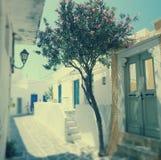 Ruas de Parikia, ilha de Paros, Grécia Fotografia de Stock Royalty Free