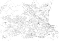 Ruas de Port Elizabeth, mapa da cidade, África do Sul ilustração do vetor