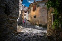 Ruas de Rovinj Croácia imagem de stock royalty free