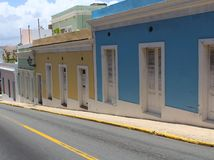 Ruas de San Juan Puerto Rico foto de stock