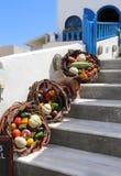 Ruas de Santorini Imagem de Stock