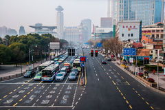 Ruas de Shanghai Imagem de Stock
