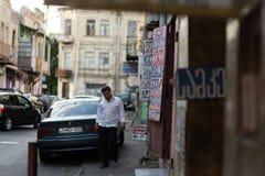 Ruas de Tbilisi, Geórgia imagens de stock royalty free