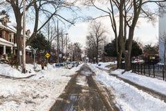 Ruas de Toronto no inverno Foto de Stock