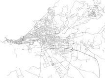 Ruas de Trapani, mapa da cidade, capital regional, Sicília, Itália Fotos de Stock