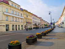 Ruas de Varsóvia, Poland imagens de stock royalty free