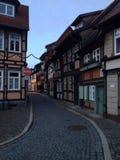 Ruas de Wernigerode Fotografia de Stock Royalty Free